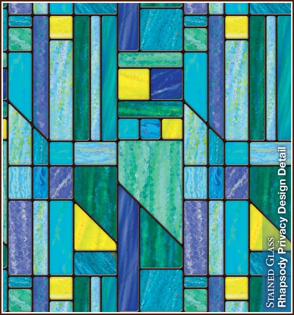 Rhapsody Stained Glass Privacy Film With Images Decorative