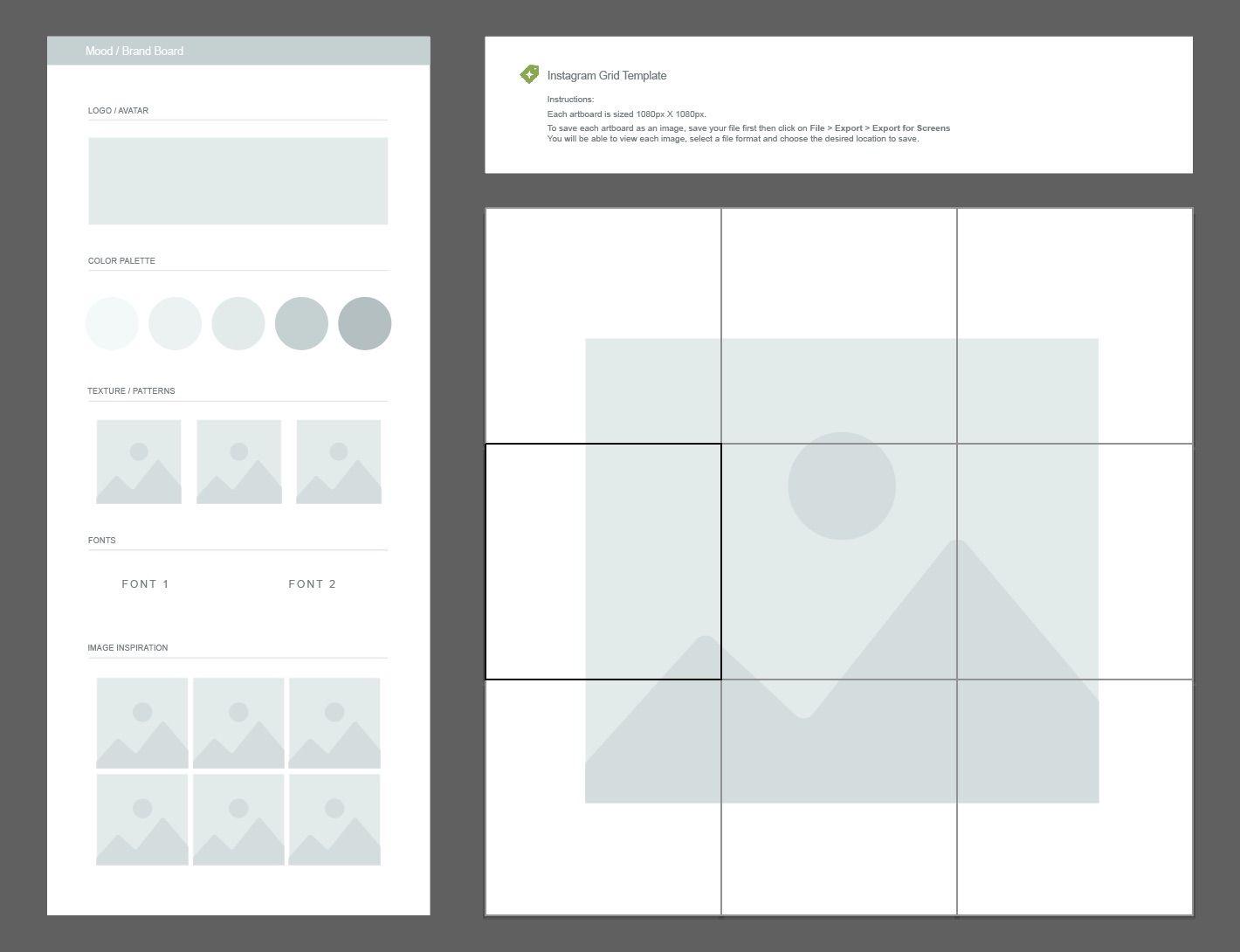 Free Download Instagram Grid Planner & Moodboard Template