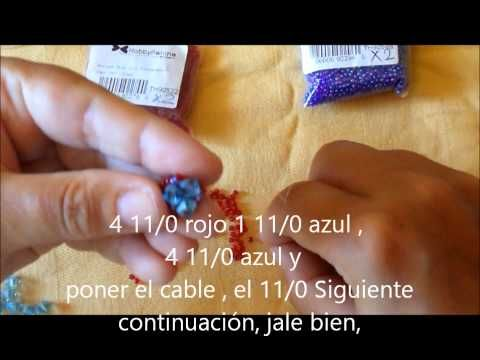 Tutorial spirale netted con rocailles - YouTube