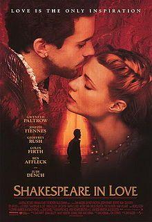 """Película: Shakespeare in love; Escritor: William Shakespeare (Inglaterra, 1564-1616), dramaturgo y poeta autor de obras como """"Otello"""", """"Romeo y Julieta"""", """"Hamlet"""" o """"Macbeth"""""""