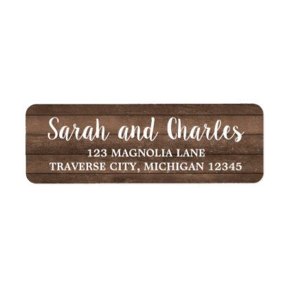 Rustic Charm Dark Wood Address Label - Return Address Label Template