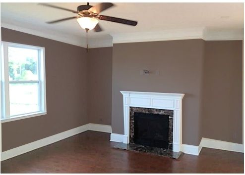 Gray Paint Colors for Living Room with Brown Couch | What Color ...