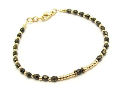 Bronze Gold Friendship Bracelet Beaded Bracelet by MissCecesJewels