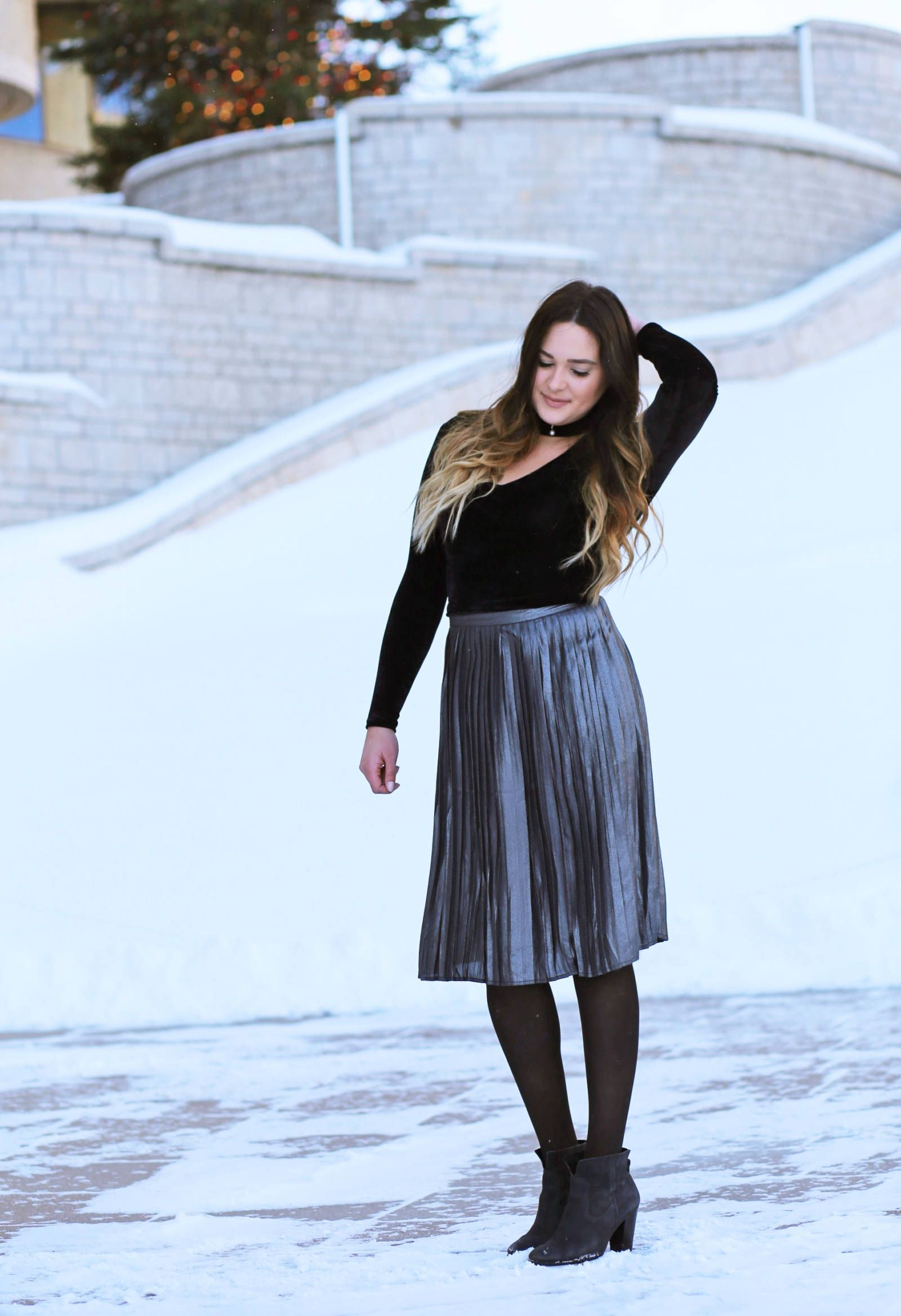 90cdc1c41 How to Style a Midi Skirt in the Cold of Winter   Sweet Looks!