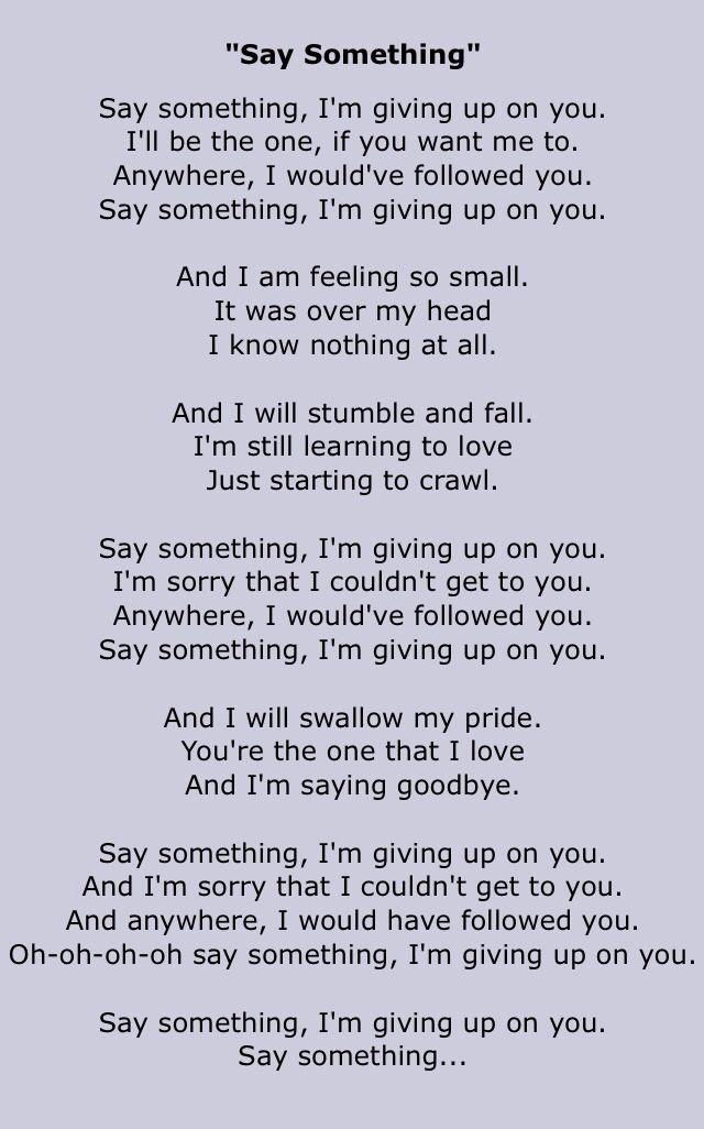 Say Something - A Great Big World & Christina Aguilera ...
