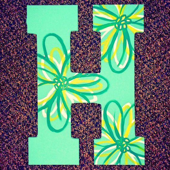 Large Flowered Hand Painted Wooden Letter Painting Wooden Letters Letter A Crafts Painted Letters