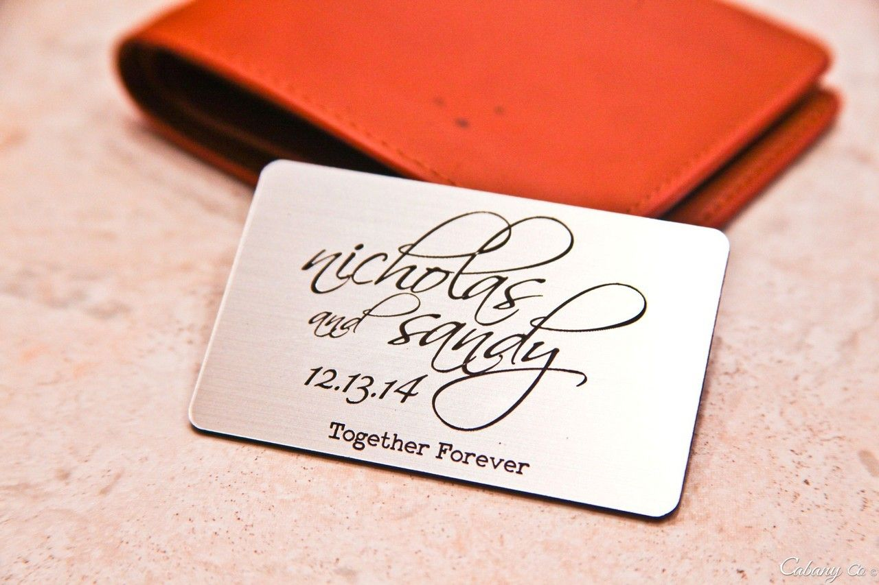 Personalized Wallet Card Together Forever Card wallet