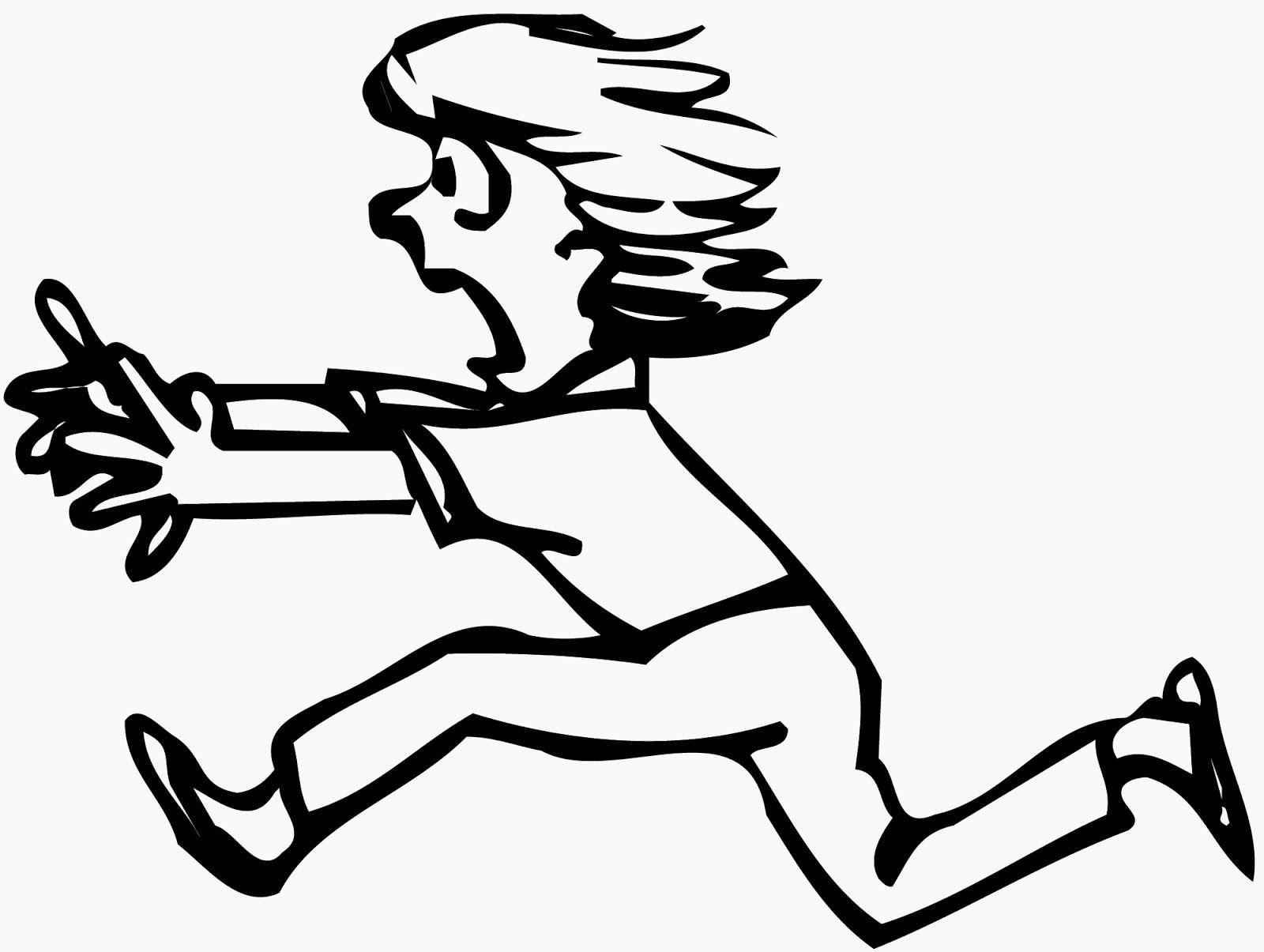 Scared Girl Running Clipart Clipartfest Running Clipart Clipart Black And White Running Illustration