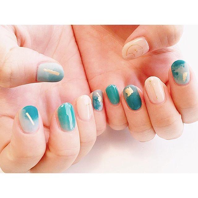 meikadohara_マーブル . #nail #nailart #shortnail #nails #design #naildesign #ジェルネイル #ネイル #ショートネイル #ネイルデザイン