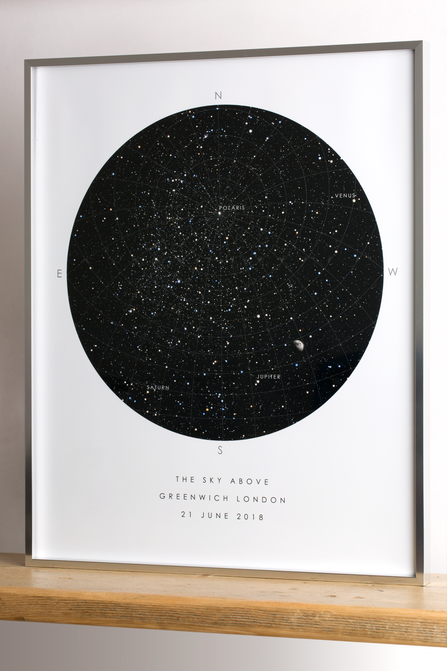 Personalised Star Map Custom Map of the Stars Framed