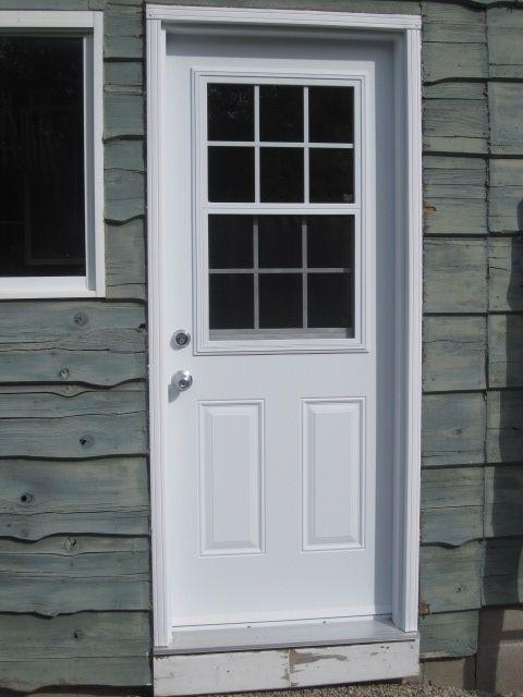 Steel Door With 1 2 Lite Vented And Internal Grills Curtains Bedroom Exterior Doors Doors