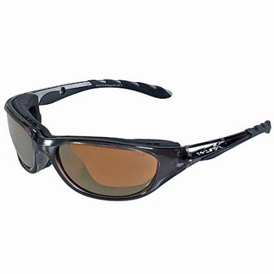 Wiley X Glasses: 695 AirRage Bronze Flash Safety Sunglasses