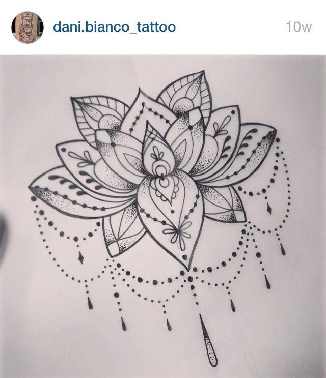 Dani Bianco Tatuajes Flor De Loto Diseno De Tatuaje De Loto Tatuaje De Mandala De Loto