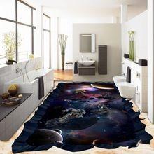 freies verschiffen weltraum 3d boden malerei verdickter wasserdichter dekoration badezimmer. Black Bedroom Furniture Sets. Home Design Ideas