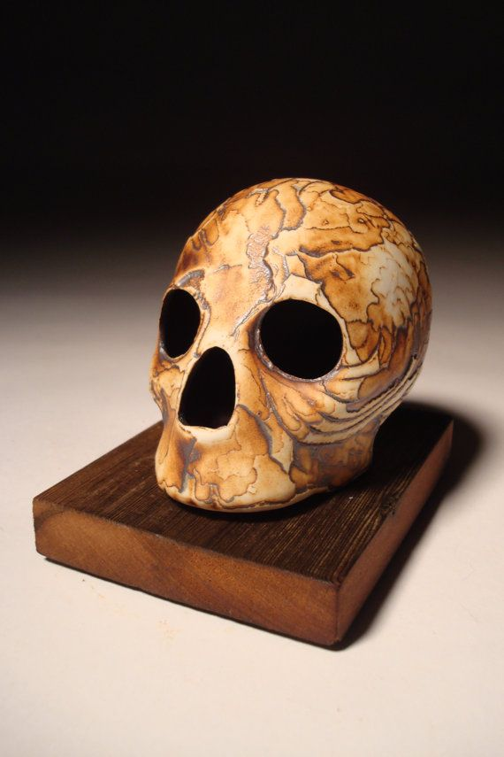 Scale Wings Tectonic Textured Skull by skullhouse on Etsy, $27.00