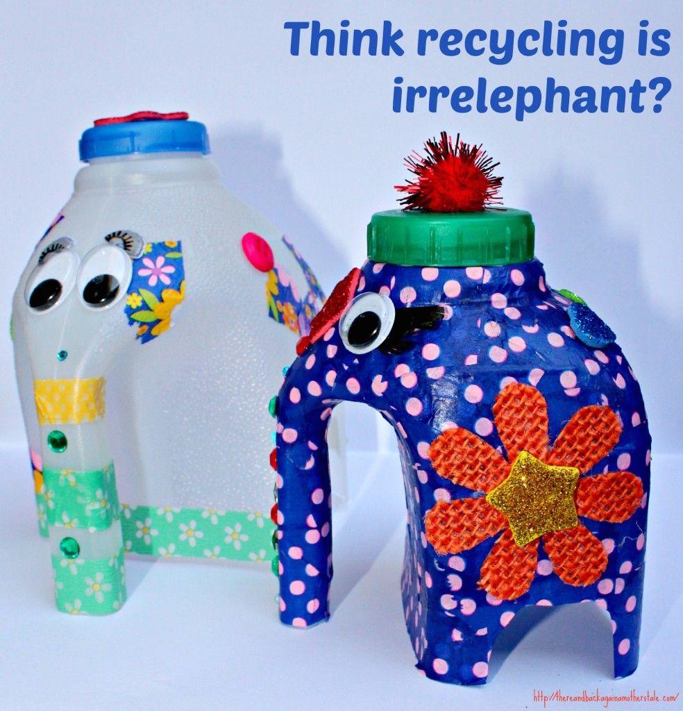 Milk Bottle Elephant Elephant Crafts Circus Crafts Bottle Crafts