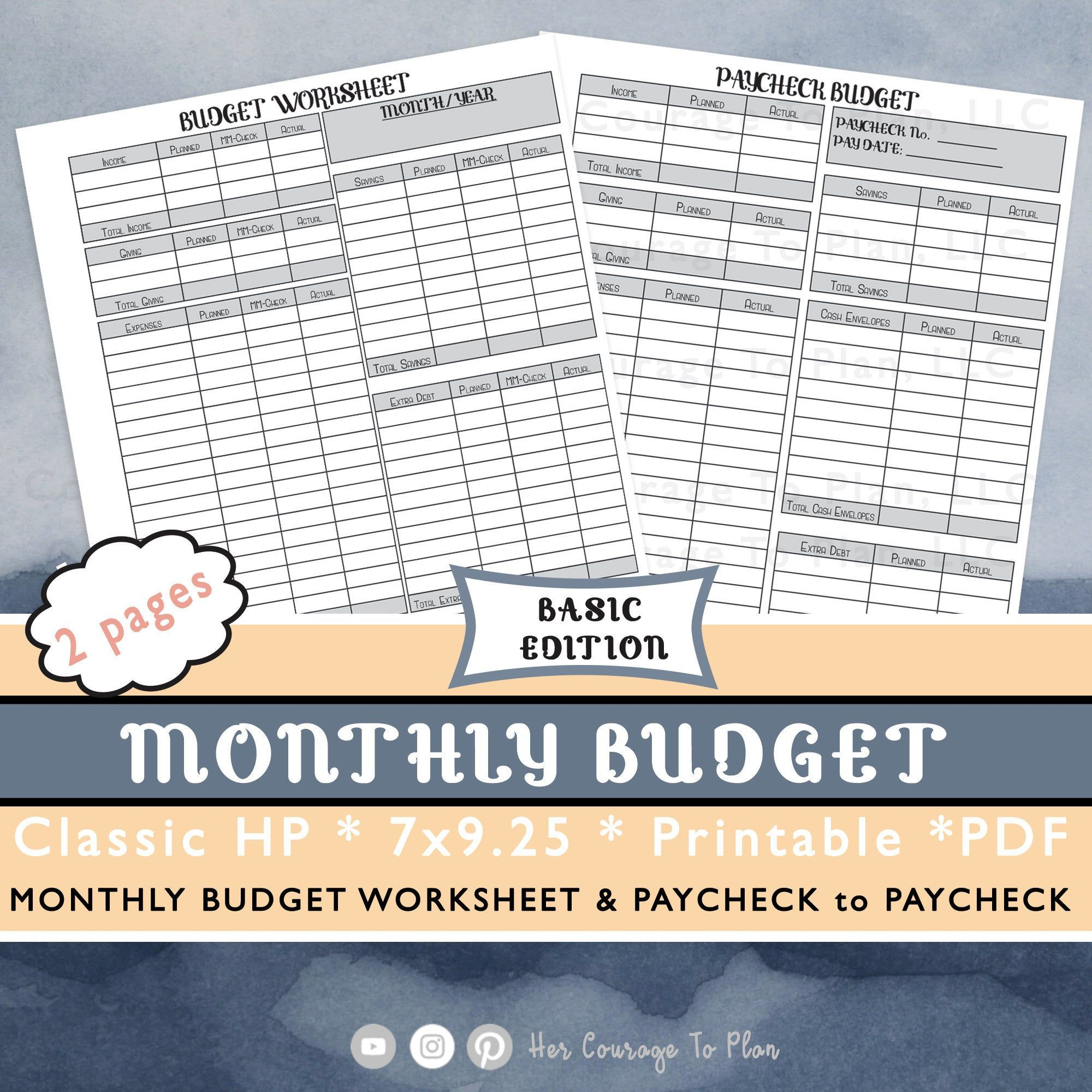 Budget Set Monthly Budget Amp Paycheck Basic Neutral