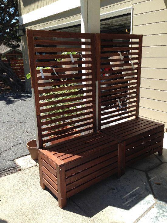 Applaro Free Standing Bench And Trellis Hack Ikea Hackers Ikea Hackers Bench And Free
