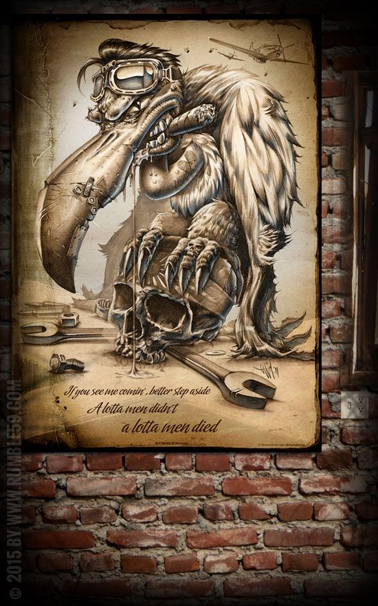 Great Rumble Poster Scary Sam the Scavenger Wanddeko