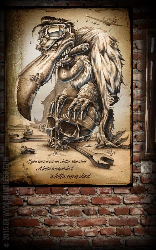 Best Rumble Poster Scary Sam the Scavenger Wanddeko
