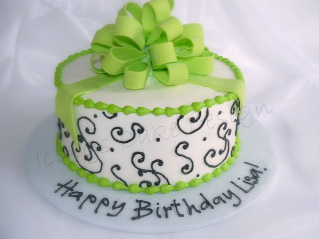 Lime Green Fusion Fondant Gumpaste Bow Small Wedding Cakes