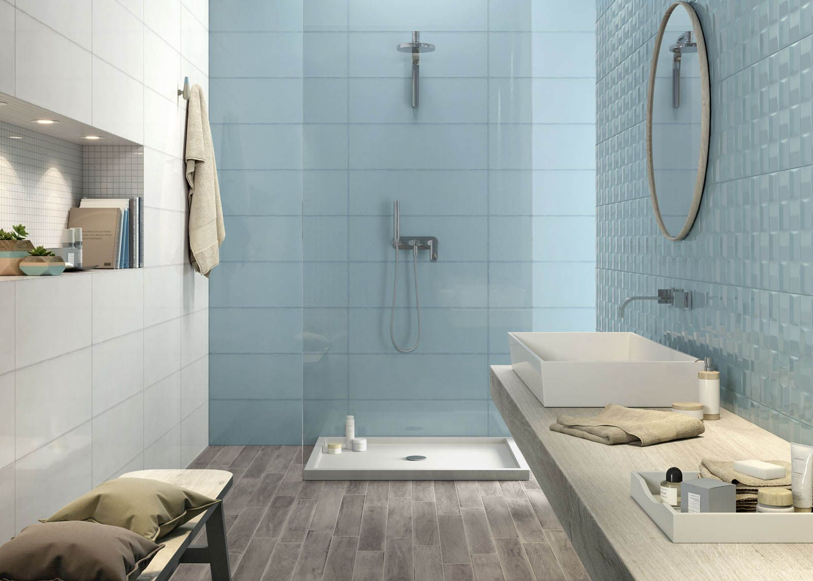 Pottery piastrelle in ceramica marazzi bathroom in