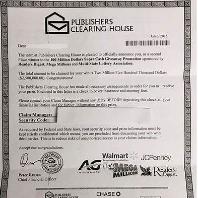 Publishers Clearing House Check |
