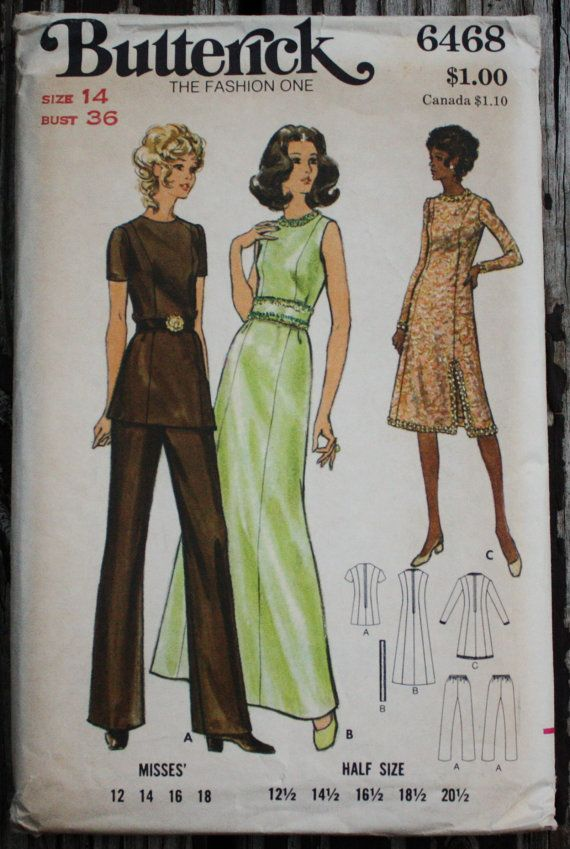 Butterick 6468 1970s 70s Maxi Evening Dress by EleanorMeriwether