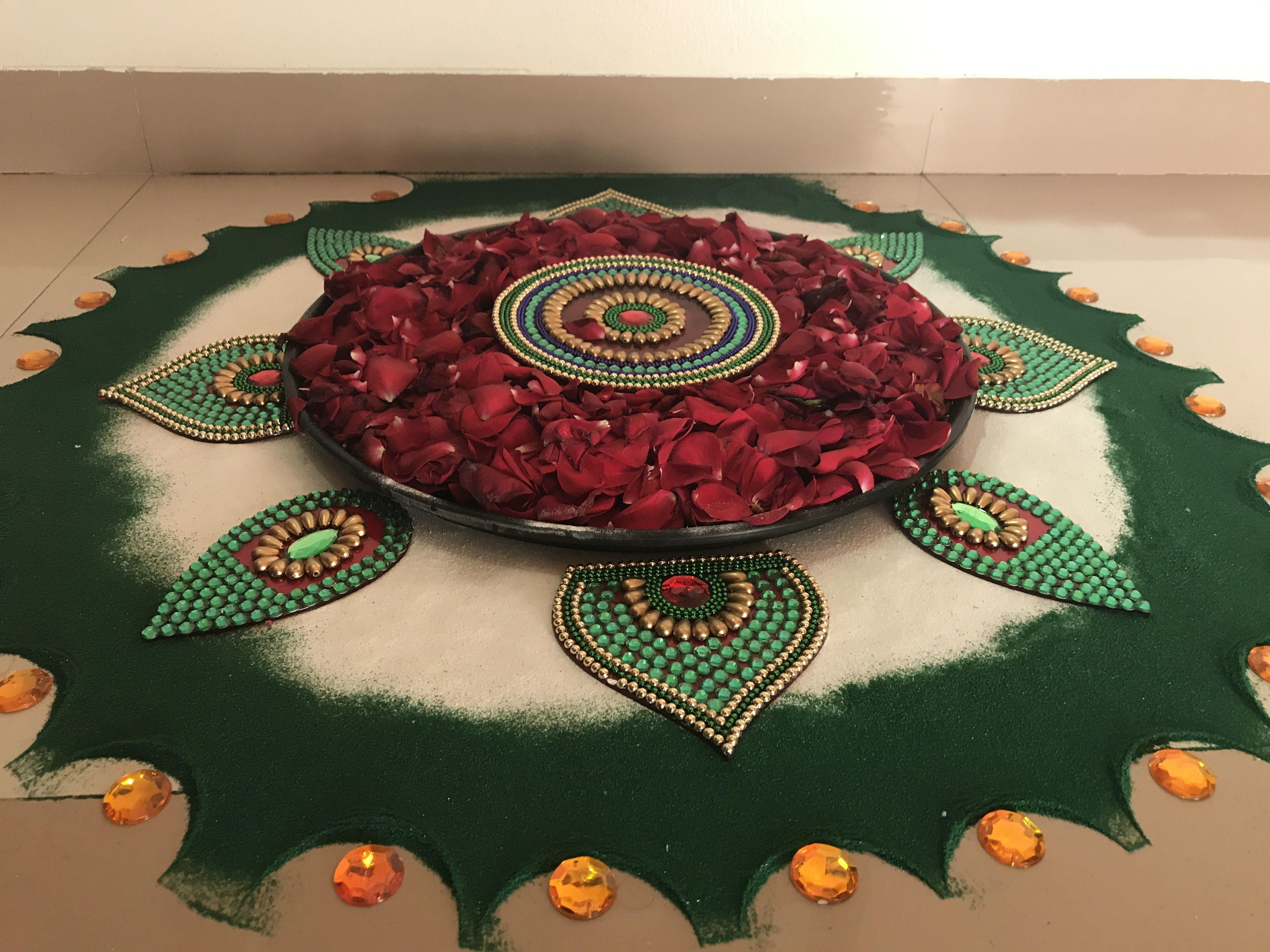 Pin by Vaishali Jani on Art Rangoli colours, Rangoli