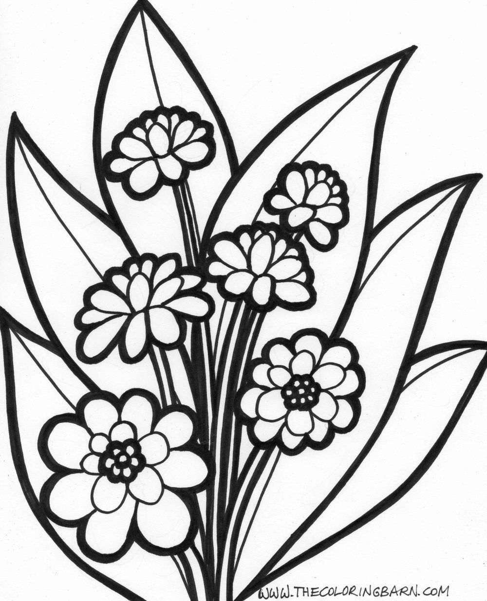 Pin By Tania Cortez On Beautiful Nature Printable Flower Coloring Pages Flower Coloring Pages Garden Coloring Pages