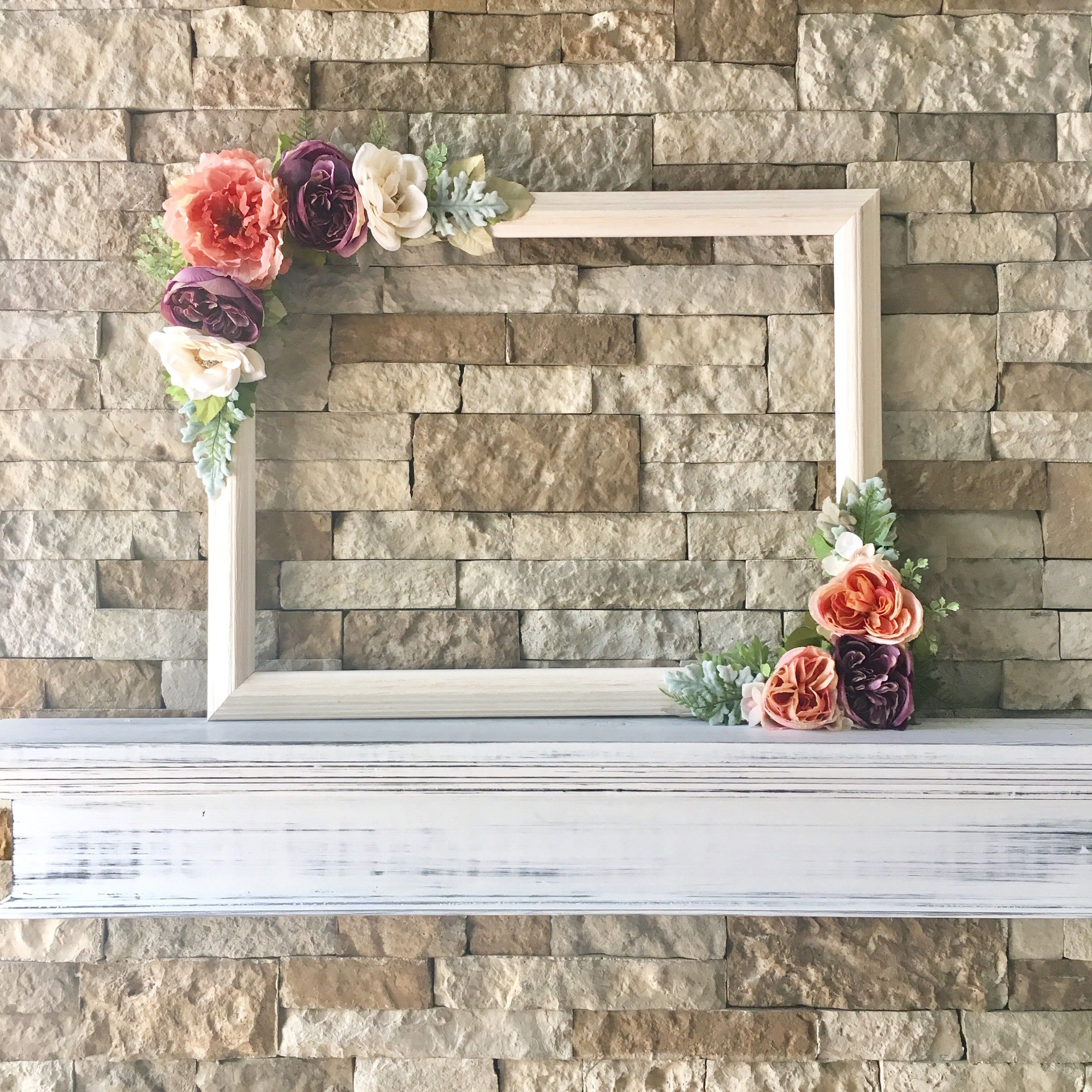 This Beautiful Customized 18 X 24 Floral Photo Prop Frame Aka