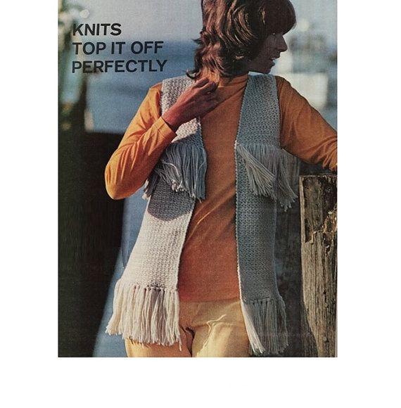 Crochet Vest Pattern Crochet Hippie Fringed Top Pattern Crochet