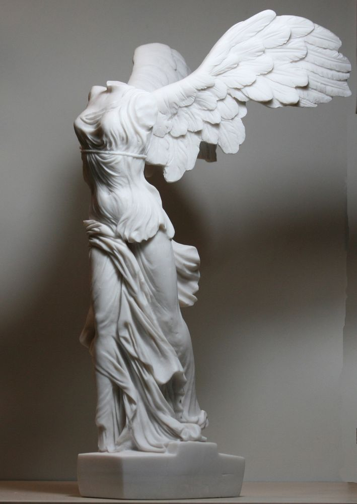 Details about Winged Nike Victory of Samothrace Cast Marble Greek Statue Sculpture 14.17in #greekstatue