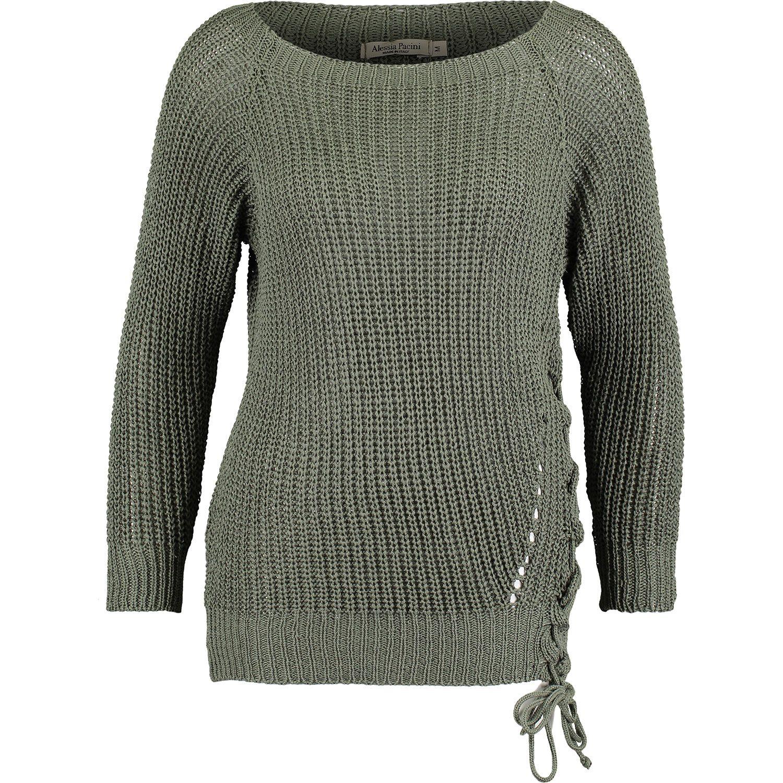 Alessia Pacini Khaki Knit Sweater Tk Maxx Knitted Sweaters Paraphrase Jacket