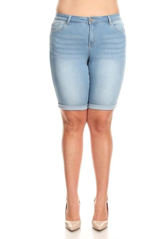 2c1b7c7fd48 Plus size knee-length skinny with rolled hems. Cargo Pants