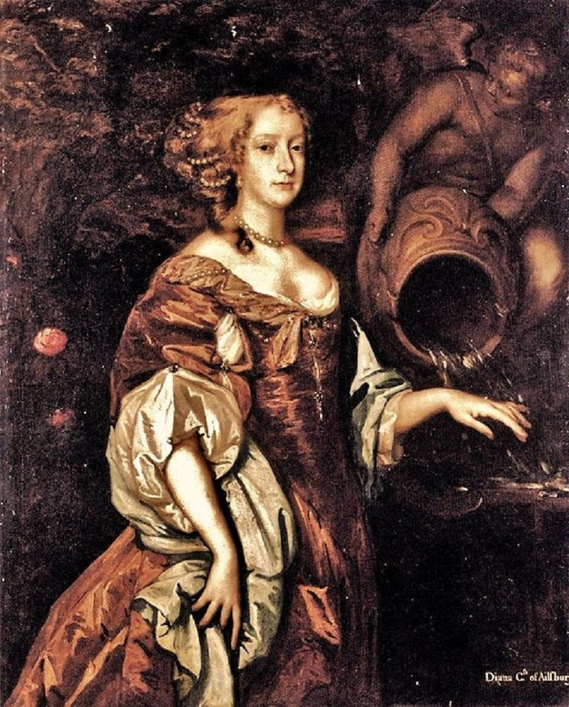 Peter Lely English Artist 1618 1680 Portrait Of Diana Countess Of Ailesbury In The Above Painting T Renaissance Portraits Portrait 18th Century Paintings