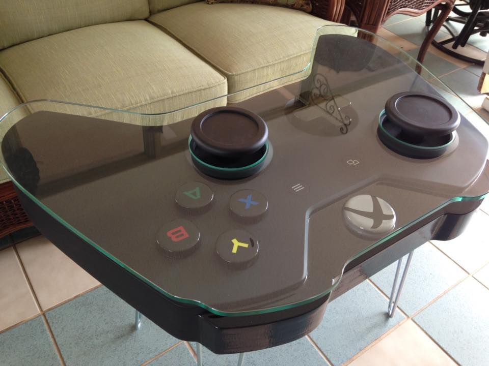 Turn your living room into a gaming console by adding a coffee table