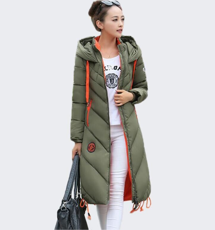 7cfbf8305 Fashion Ladies Coats Army Green Coat Women Parka