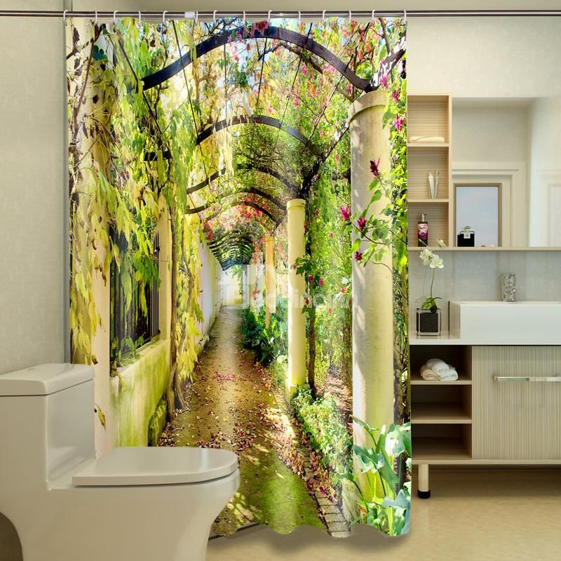 High Quality Attractive Unique Corridor Polyester 3d Shower
