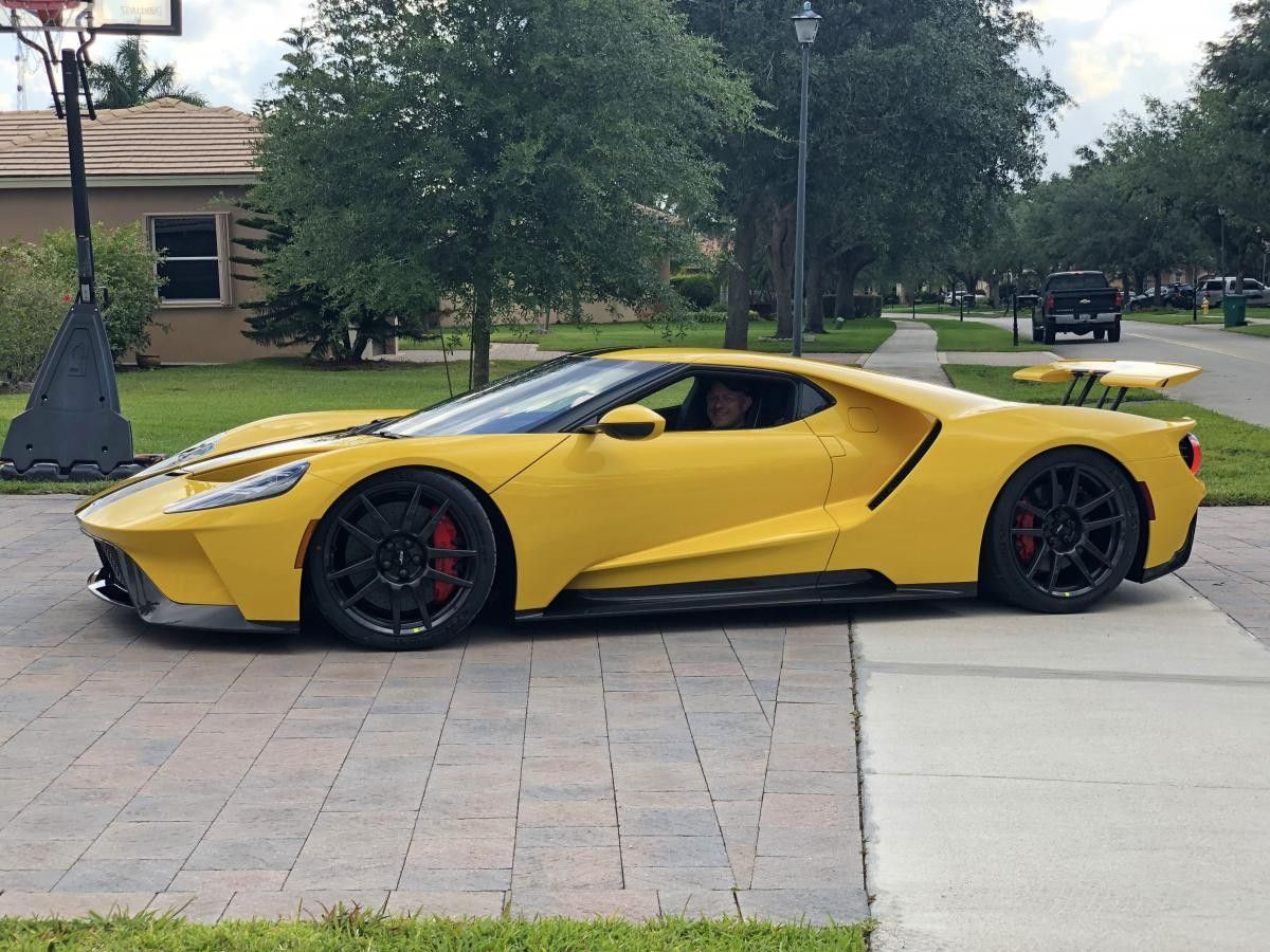 2018 Ford Gt Triple Yellow Ford Gt Ford Trucks Cool Sports Cars