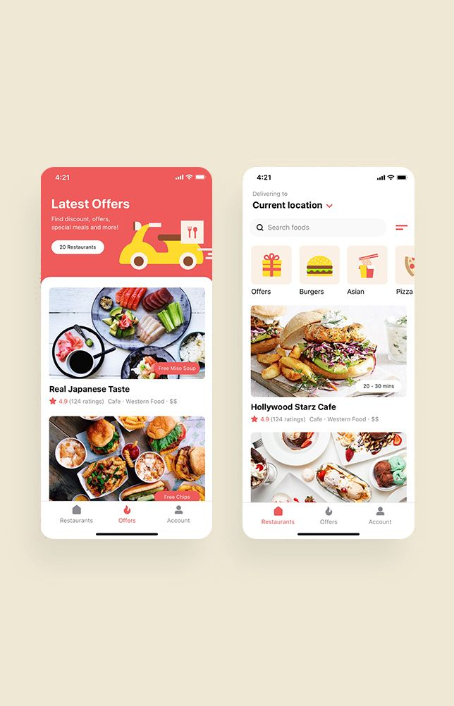 Happy Meals Food Delivery App UI Kit #userinterface