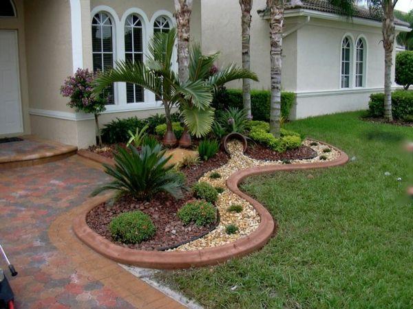 Eingangsbereich gestalten garten  exterieur vorgarten gestalten ideen elegant | garten | Pinterest ...