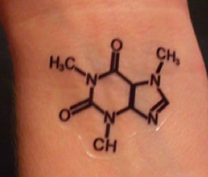 Caffeine molecule tattoo i 39 d totally get this what to for Caffeine molecule tattoo
