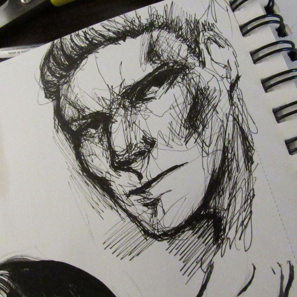 Contour Messy Drawing Of A Man Drawing Doodle Sketch Pen Ink Man Male Art Artist Portrait Art Inspiration Art Drawings