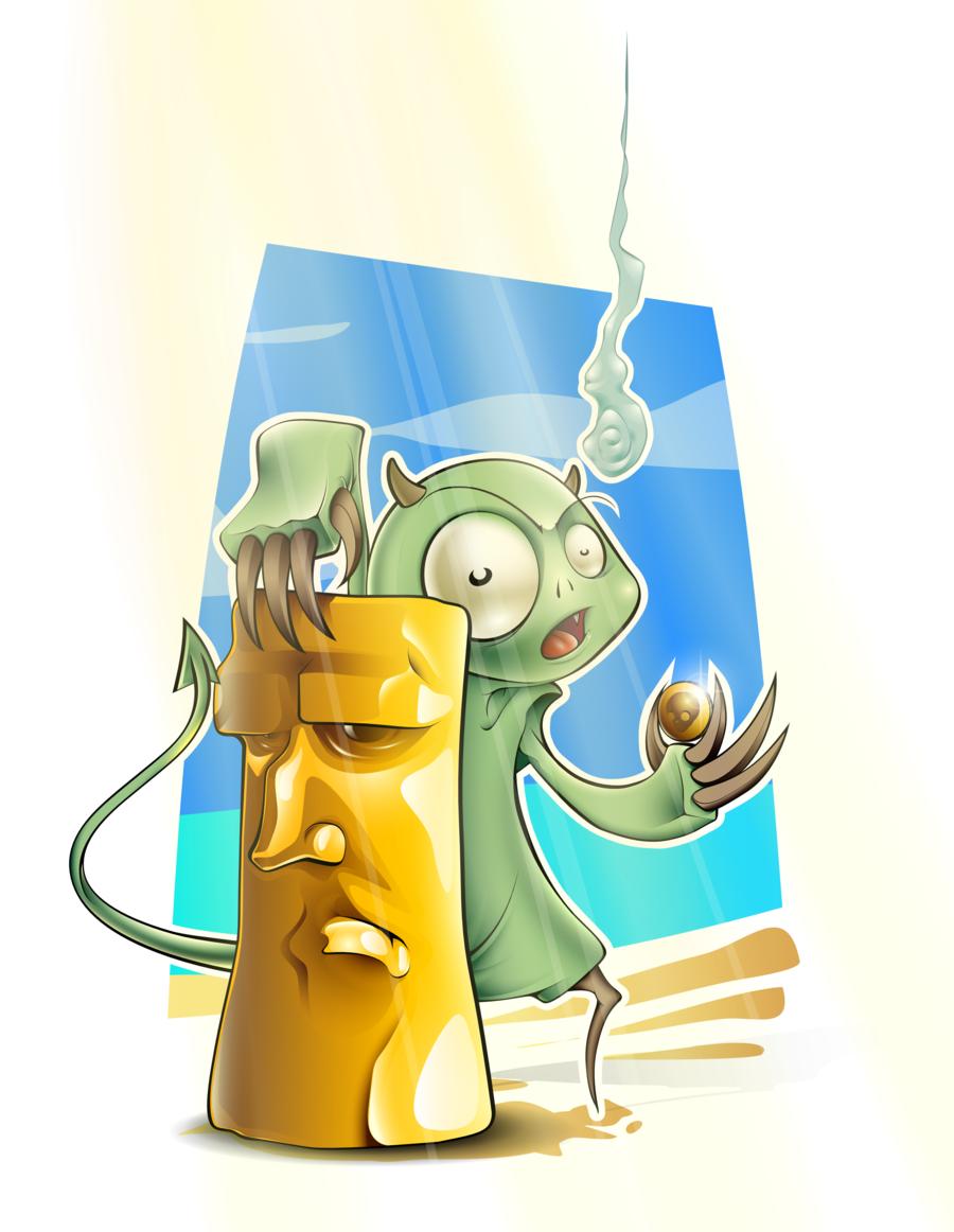 Greedy illustration Vectorart made with Inkpad for iPad © 2012 by Thorsten Pfeiffer - Illustrathor