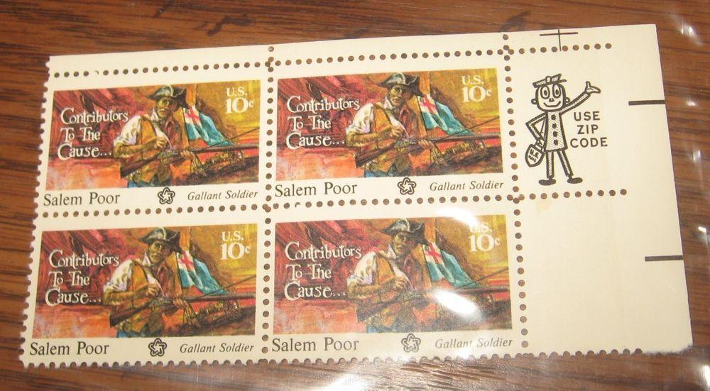U S  #1560 1975 10¢ Salem Poor Contributors to the Cause