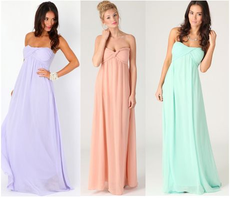 Pastel maxi dresses | Bridesmaids pastel | Pinterest | Seasons ...