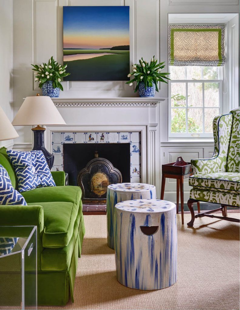 Kate Project, Charlotte, NC | Gray Walker Interiors Study, Interior Design  Navy, Emerald