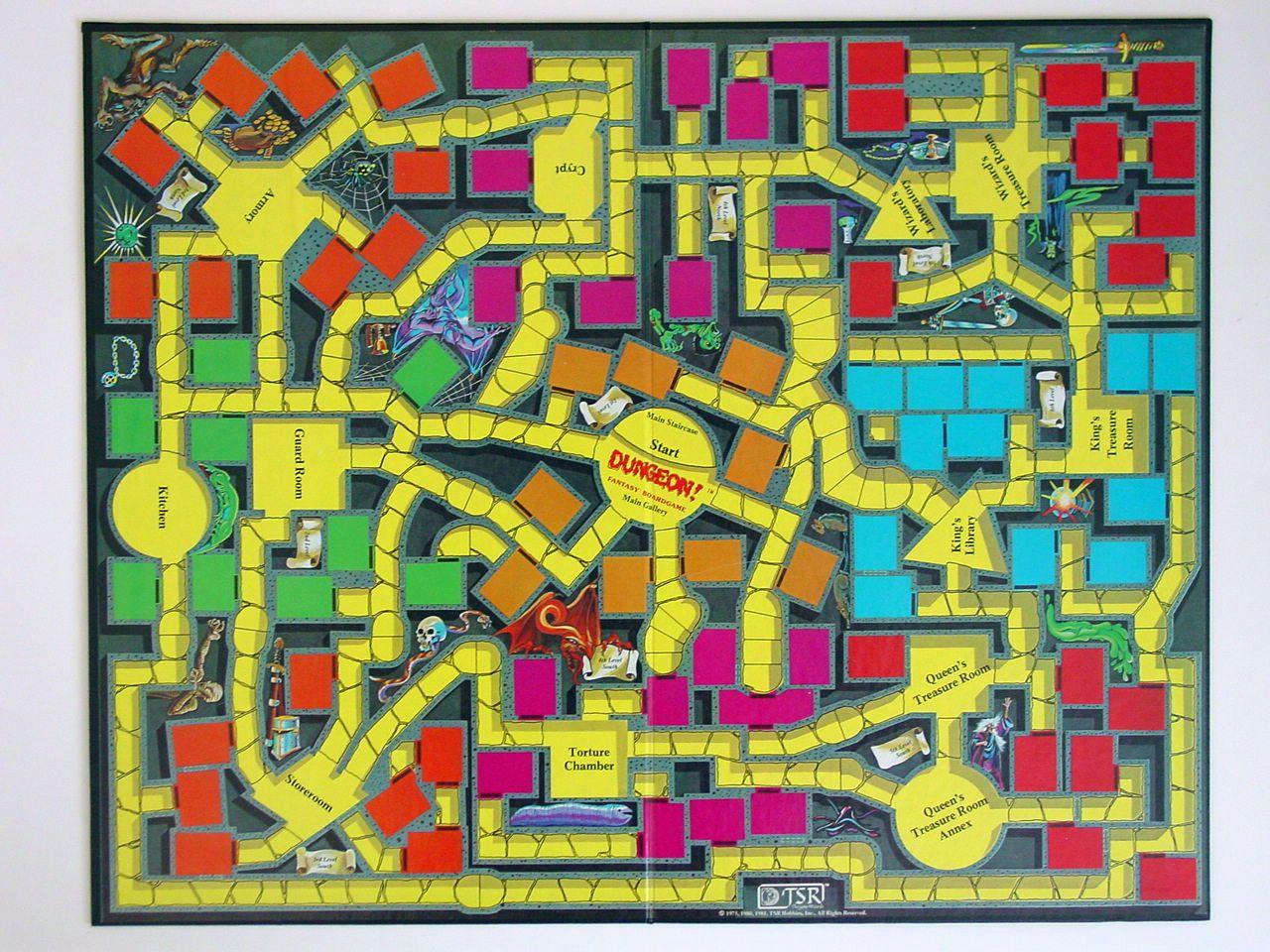 Dungeon! Board Game Board