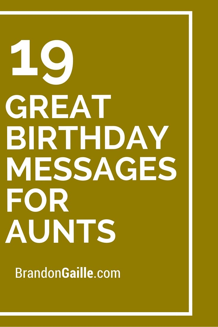 19 Great Birthday Messages For Aunts Greetings Aunt Card